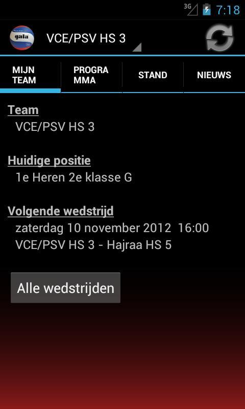 Mijn Volleybal (Mijn Nevobo) - screenshot