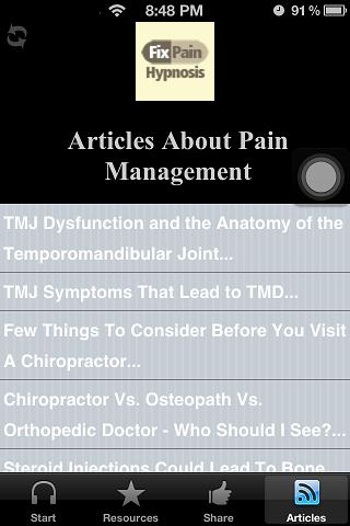 Body Pain Management Hypnosis- screenshot