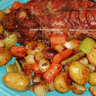 Simple Roast Pork and Vegetables.