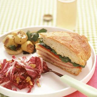 Pressed Salami Sandwiches