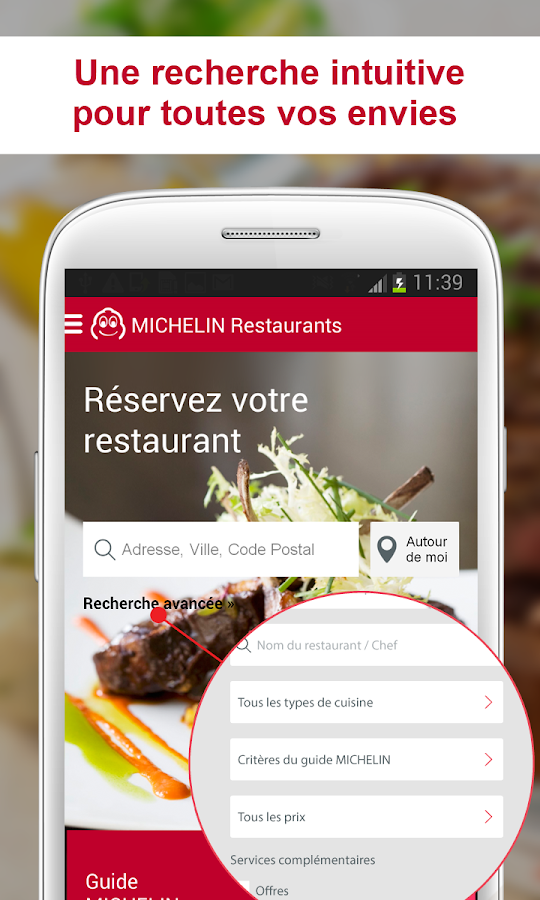 MICHELIN Restaurants - screenshot