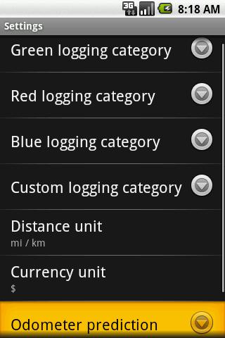 Business Travel Logger - screenshot