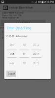 Screenshot of Android Date Wheel