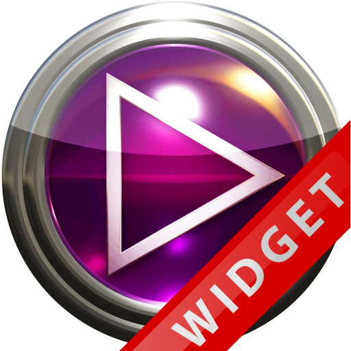 Poweramp Widget Pink Glas