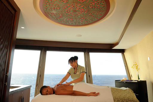 Disney-Dream-Senses-Spa-Treatment - Make an appointment for therapeutic and beauty services for adults at Senses Spa & Salon spanning decks 11 and 12 toward the front of Disney Dream.