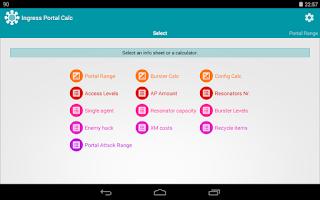 Screenshot of Portal Calc for Ingress