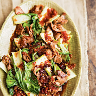 Spicy Ginger Beef & Bok Choy