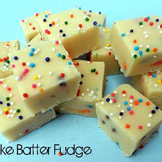 White Chocolate Cake Batter Fudge