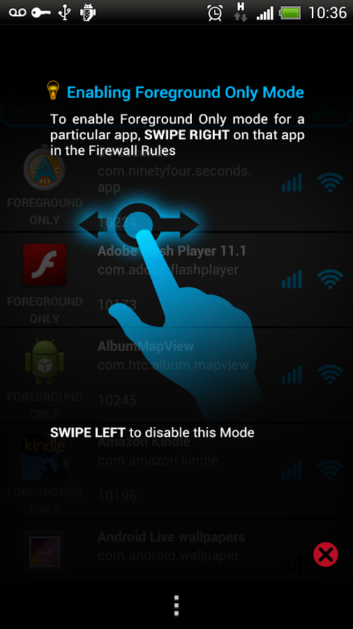Mobiwol: NoRoot Firewall - screenshot