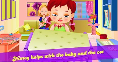 Screenshot of Nancy little new baby care
