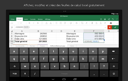 Microsoft office pour tablettes android - Open office android tablette ...