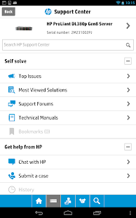 HP Support Center Mobile - screenshot thumbnail