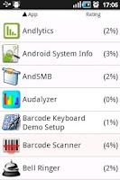 Screenshot of Suspicious Apps