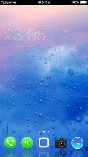 蓝色水滴主题