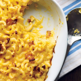 Emeril's Three-Cheese Baked Macaroni.