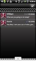 Screenshot of GO SMS THEME/PnkPolkaDot