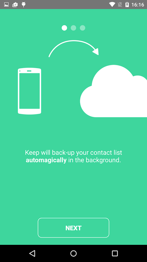Keep Contacts- screenshot