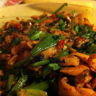 Spicy Taiwanese Chicken and Celery