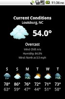 Screenshot of NWS Weather