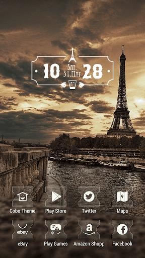 日落景觀埃菲爾鐵塔巴黎主題