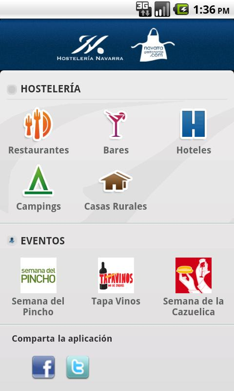 Hostelería Navarra - screenshot