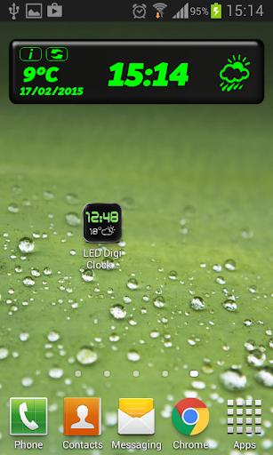 玩免費天氣APP|下載LED 天気時計ウィジェット app不用錢|硬是要APP