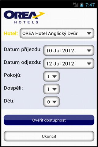 OREA HOTELS- screenshot