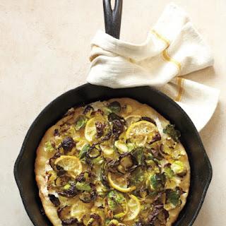 Brussels Sprout-Lemon Pizza