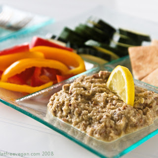 Roasted Eggplant-Almond Dip