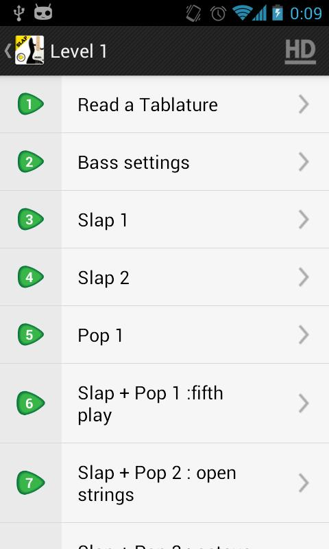 SLAP Bass Lessons VIDEOS LITE- screenshot