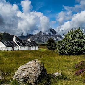 Black Rock Cottage by Nicole Williams - Novices Only Landscapes ( cottage glencoe scotland )