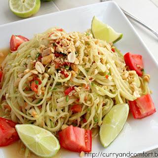 Thai Green Papaya Salad.