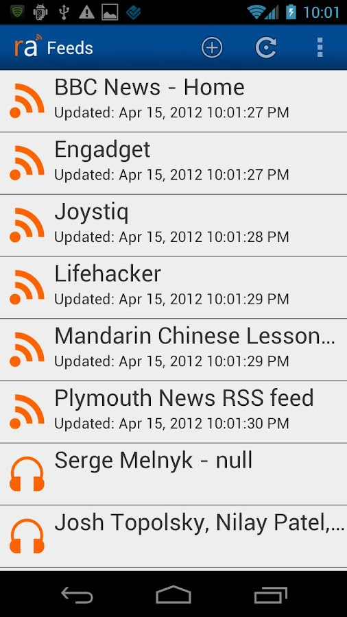 RSS Alarm Lite- screenshot