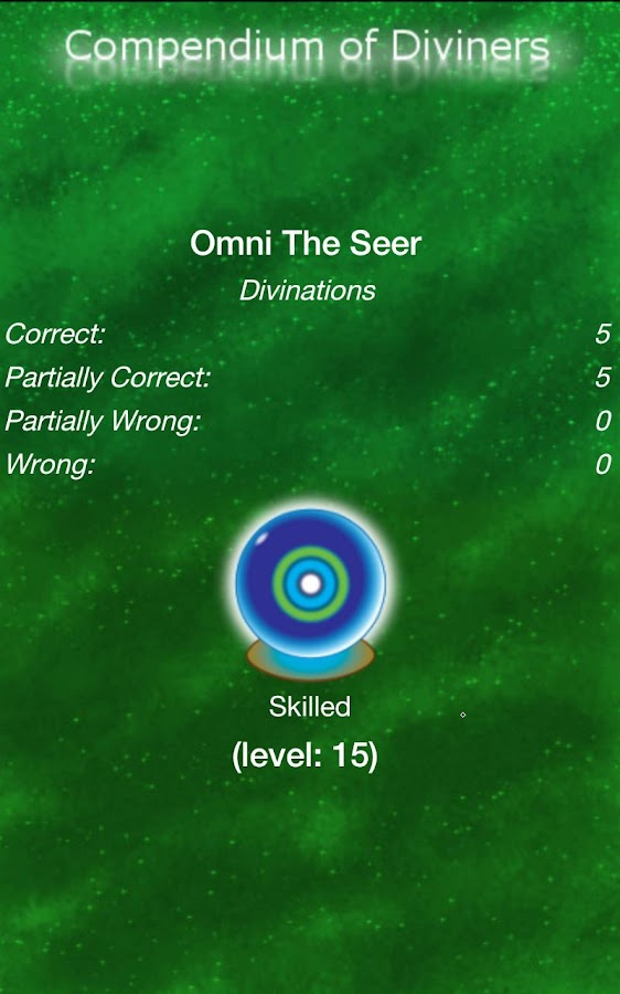 Compendium of Divinations- screenshot