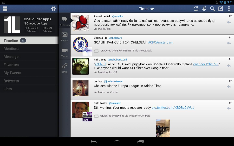 TweetCaster Pro for Twitter - screenshot