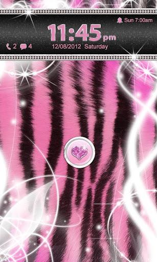 Ultra Cute Pink Zebra Locker