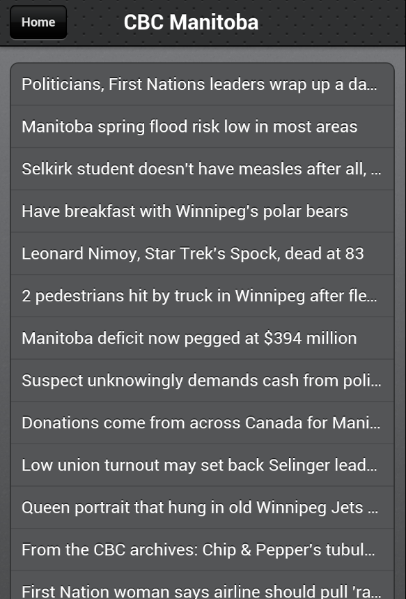 Winnipeg News- screenshot