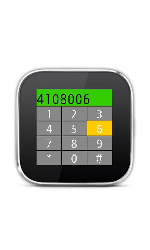 Dialer for SmartWatch - screenshot