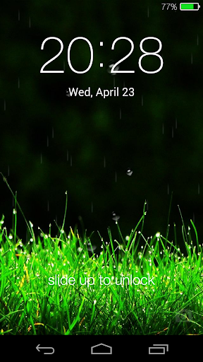 【免費個人化App】Galaxy rainy lockscreen-APP點子