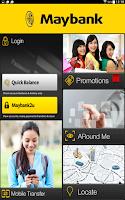 Screenshot of Maybank2u Malaysia