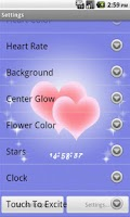 Screenshot of Hearts and Flowers LWP Free