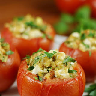 Feta-Stuffed Tomatoes.
