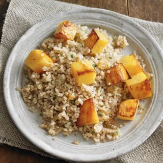 Bulgur Pilaf with Pumpkin and Raisins.