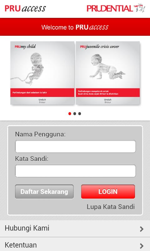 PRUaccess Mobile- screenshot