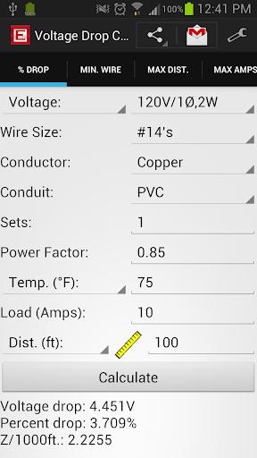Voltage Drop Calculator Free