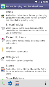 Perfect Shopping List screenshot 0