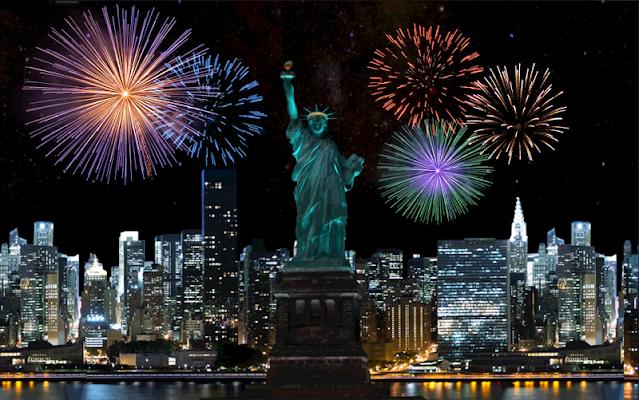 Liberty USA Fireworks LWP - screenshot
