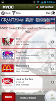 Screenshot of MVDC Military & Vet Discounts