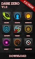 Screenshot of Dark Zero GO Launcher Theme