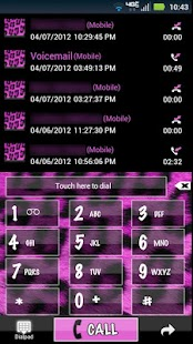 Go Contacts Pink Cheetah Theme - screenshot thumbnail